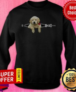 Funny Dogs Pisces Golden Retriever Zip And Rose Sweatshirt
