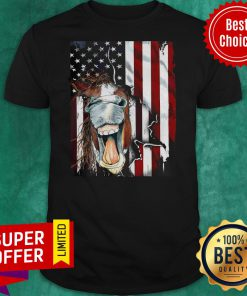 Official American Horse Face Flag Shirt
