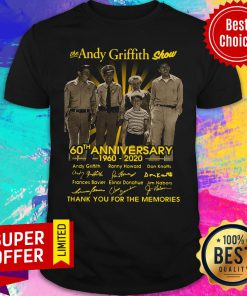 Awesome The Andy Griffith Show 60th Anniversary 1960 2020 Shirt