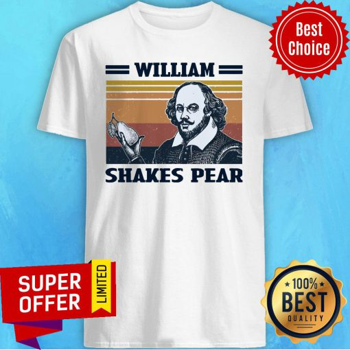 Awesome William Shakes Pear Vintage Shirt