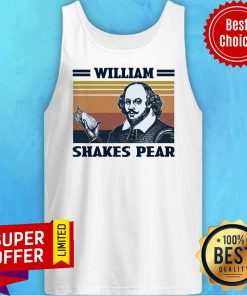 Awesome William Shakes Pear Vintage Tank Top