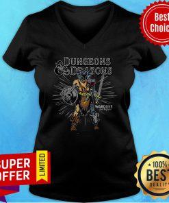 Official Dungeons & Dragons War Duke Evil Fighter V-neck
