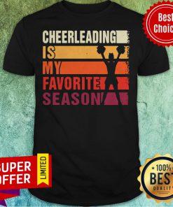 Awesome Vintage Cheerleading Is My Favorite Season American Football Band Shirt