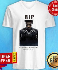 Official Rip Chadwick Boseman Black Panther Signature V-neck