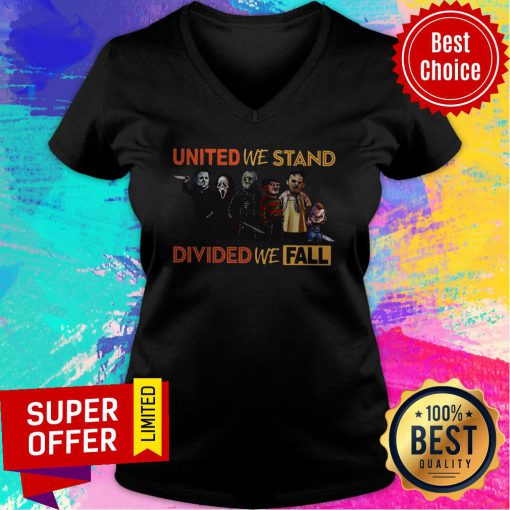 Funny United We Stand Divided We Fall Halloween V-neck