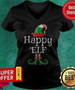 Official I'm The Geeky Elf Christmas V-neck