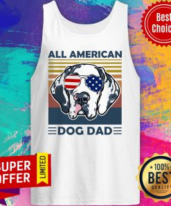 Awesome All American Dog Dad Vintage Retro Tank Top