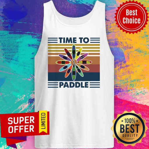 Official Time To Paddle Kayak Vintage Tank Top