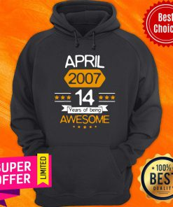 April 14Th Birthday Decorations April 2007 Boy Girl 14 Years Old Hoodie