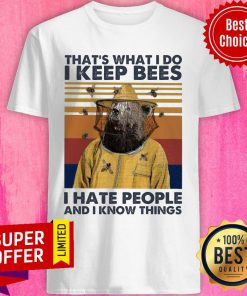 Bears That's What I Do I Keep Bees I Hate People And I Know Things Vintage Shirt