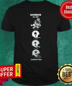 Dallas Cowboys NFL Football Heritage Banner Matted Framed Shirt
