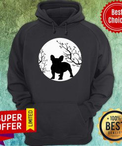 French Bulldog Dog Full Moon Howl Funny Frenchie Lover Hoodie