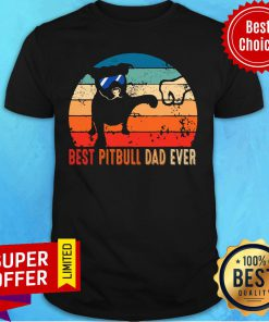 Best Pitbull Dad Ever Father's Day Vintage Shirt